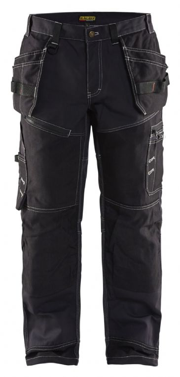 Blaklader 1500 1370 Xtreme Cotton Twill Trousers with Nail Pockets X1500 (Black)